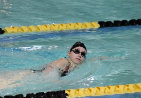 Girls varsity swim competes at Sterling Heights relays