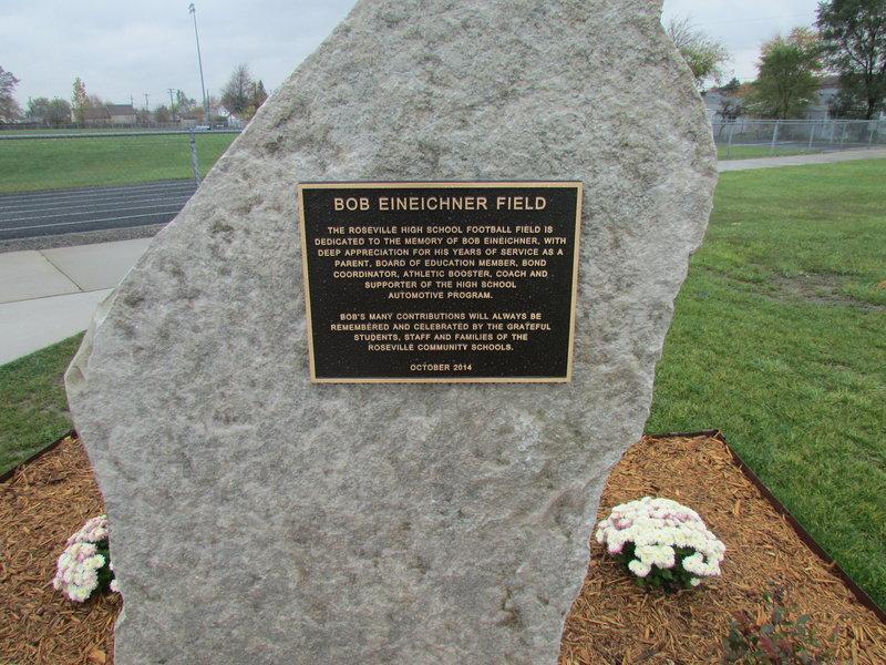 Bob+Eineicher+plaque+located+by+the+football+field.