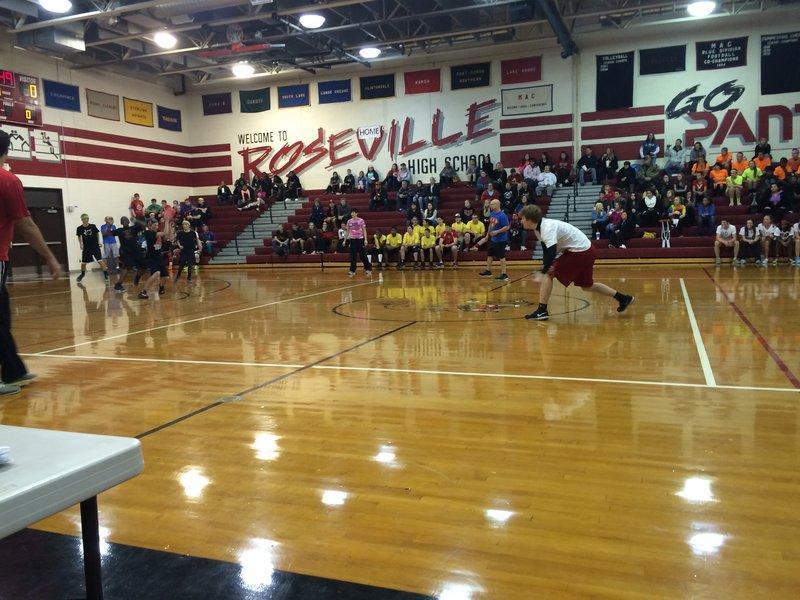 Roseville's annual dodge ball tournament