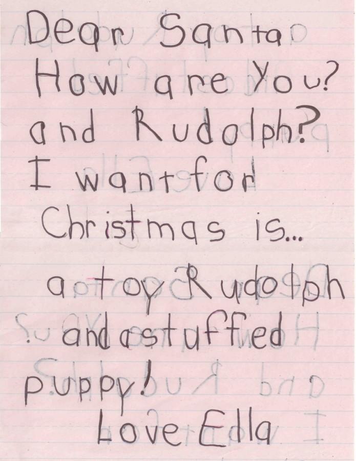 Santa letter from Ella