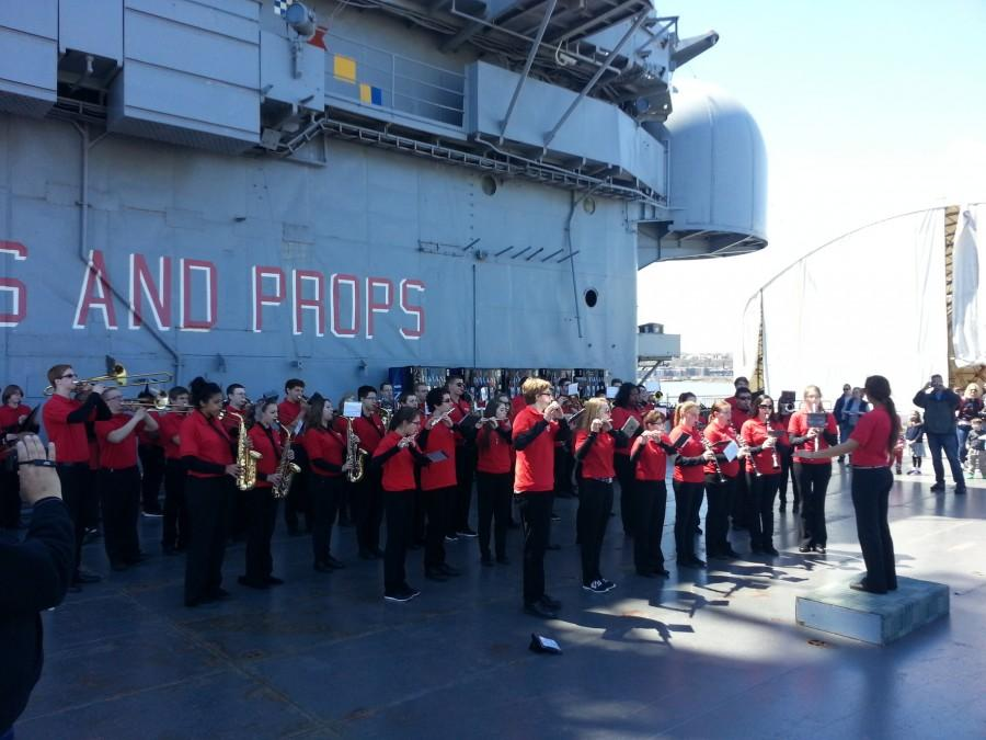 RHS band had a memorable performance on the USS Intrepid.