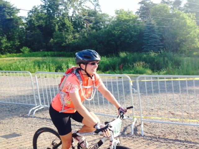 A biker takes on the Ore 2 Shore Mountain Bike Epic.