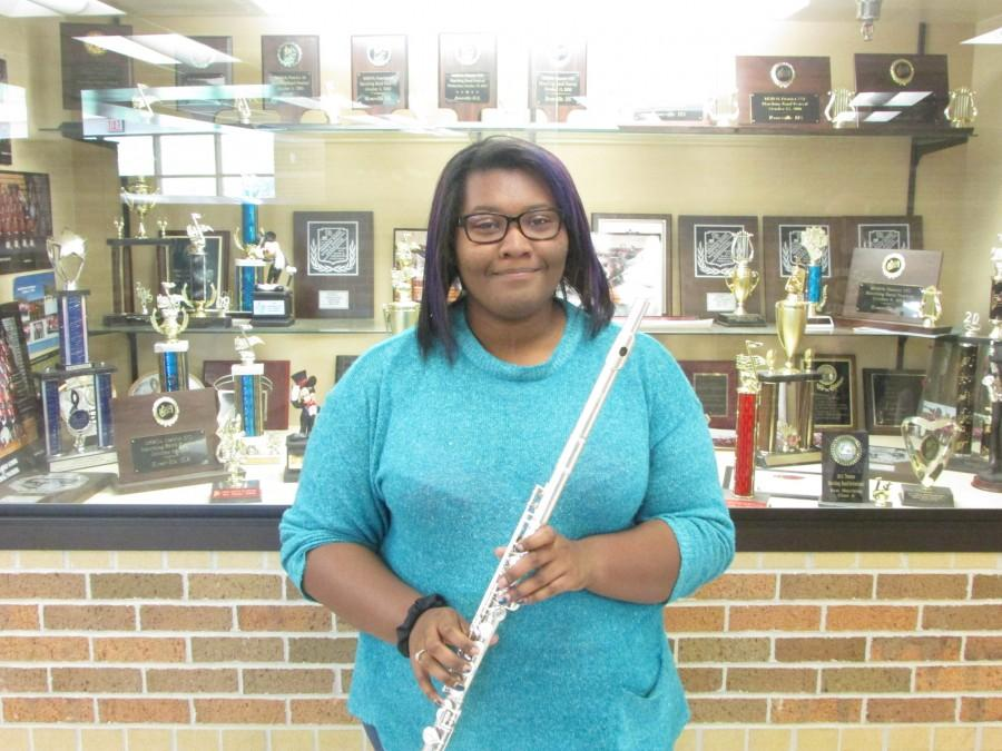 """Flute Section Leader Brooke Blackwell: """"I was really excited, even though I was the only one that tried out for it. I am going to help the flutes be the best that they can be."""""""