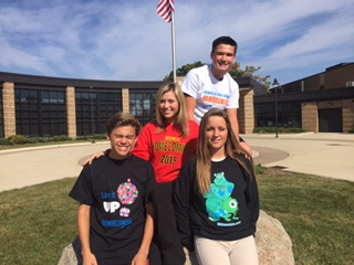 RHS students gear up for homecoming in thus year's class shirts.