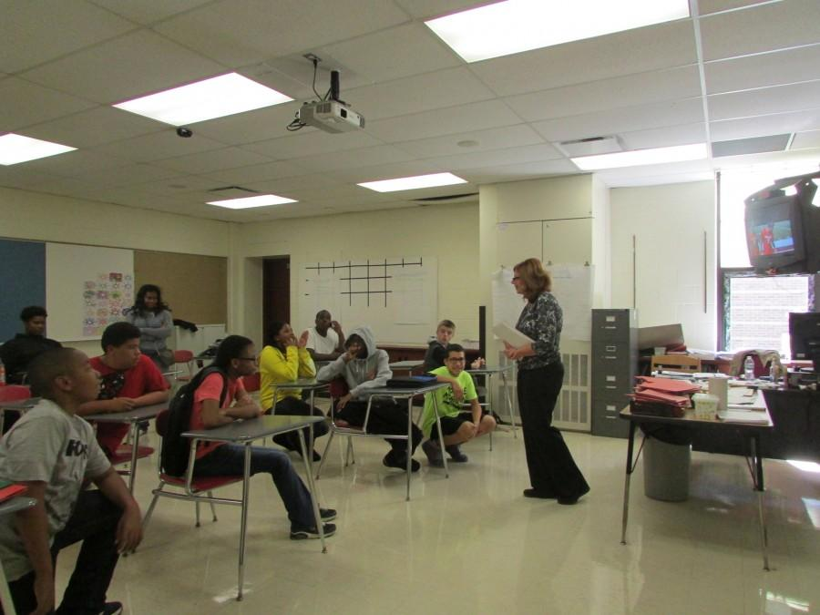 Suzanne D'Andrea instructs her students in a lesson.