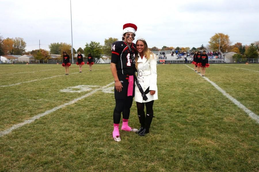 Evan Gates and Shawna Brandt, minutes after becoming the 2015 Homecoming king and queen.