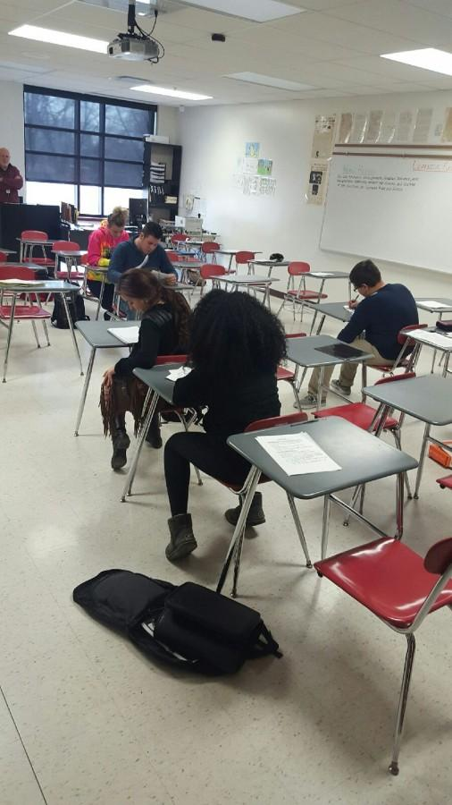 Many classes were small in size as students stayed home due to the threats made.