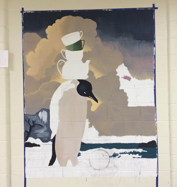 Senior art seminar mural update #2