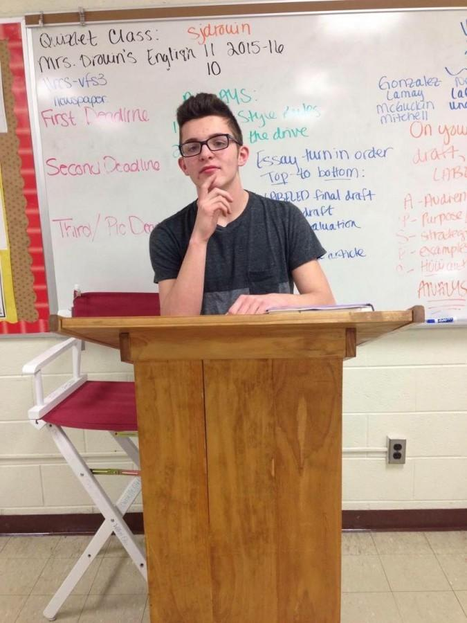 Sophomore wins speech contest