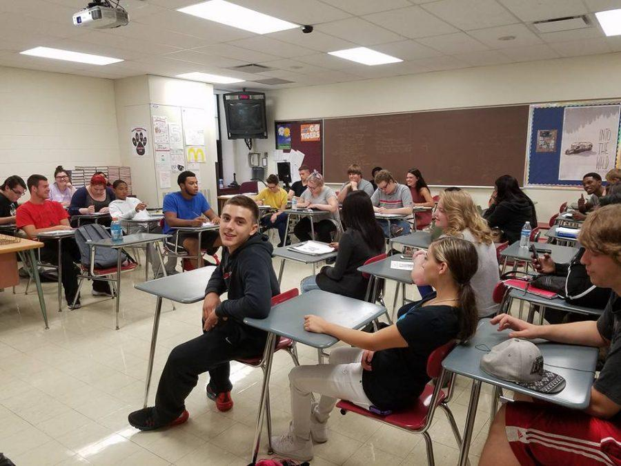 A senior class is ready and waiting to learn during their final year of high school