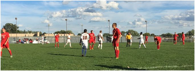 Jacob Rolder stands in midfield during the team's away game at Centerline.