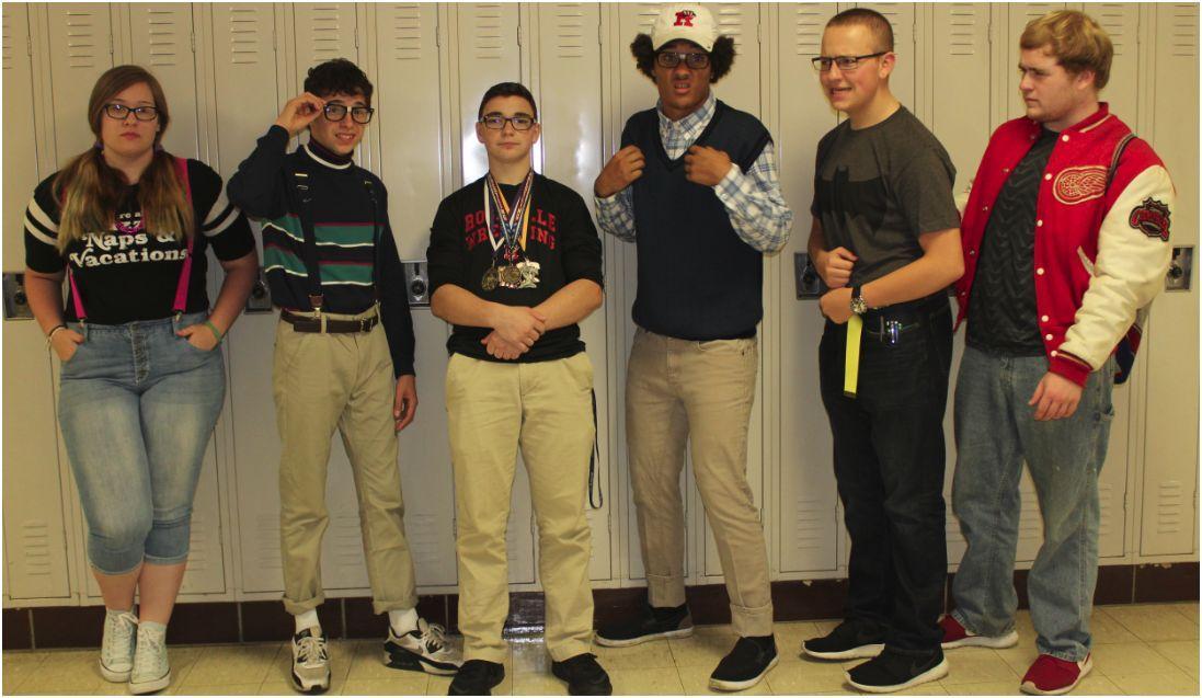 RHS students showing their school spirit on nerd vs jockday. PC: Jasmine Zarves