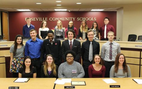 RHS seniors campaign for mock school board elections