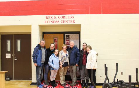 Rex E. Corless' family finally see the new weight room.