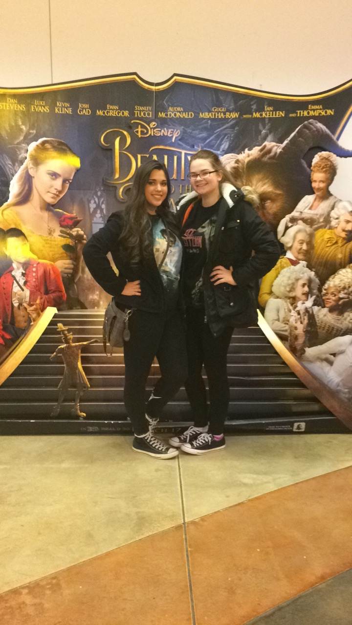 Jasmine Zarves and Kailey Preston at the movies to see Beauty and the Beast opening day.