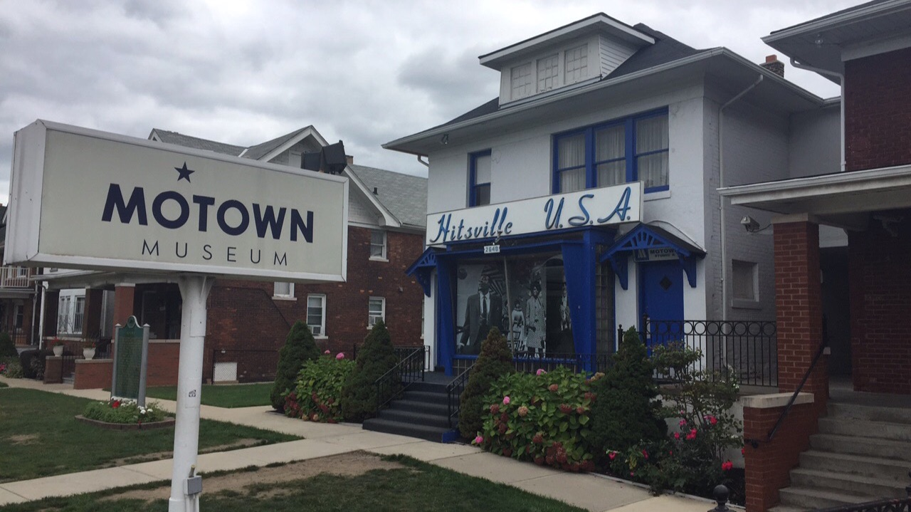 The Motown Hitsville U.S.A  museum that was once a recording studio for the some of the most successful artists.