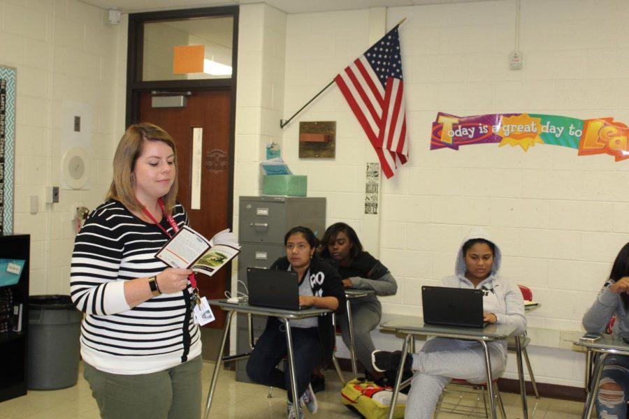 English teacher, Angela Kwiatkowski