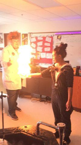 Teachers show Halloween spirit