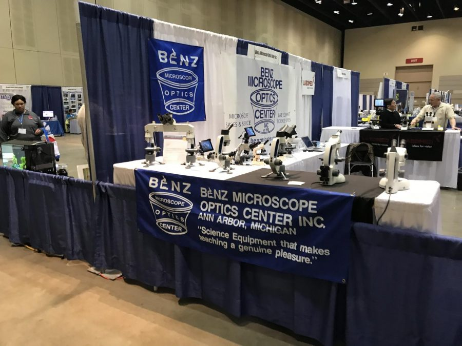 An area that vendors can sell scientific equipment and give out samples.