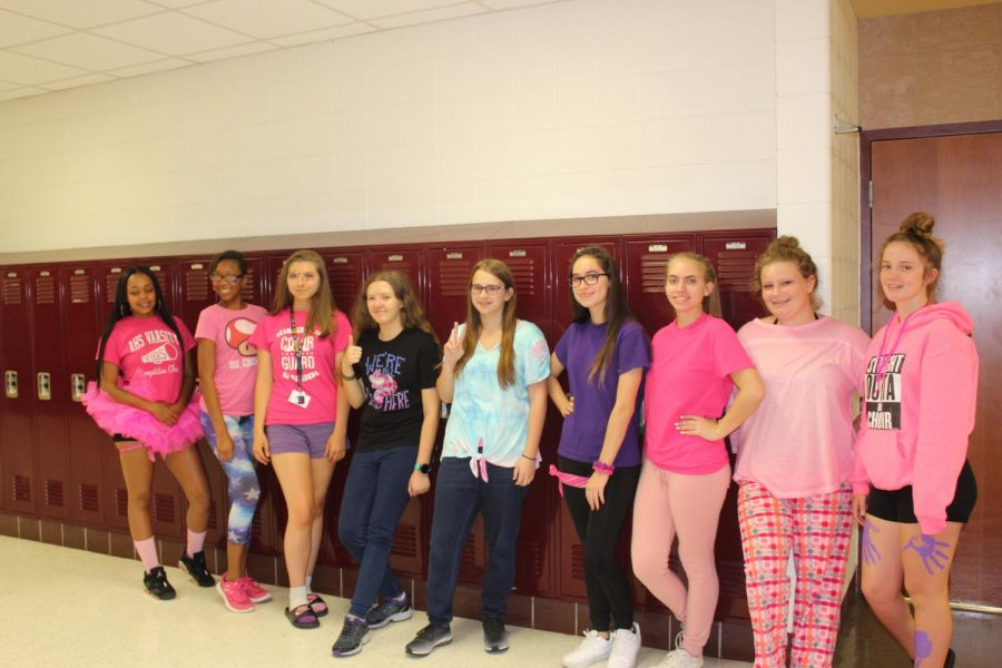 Students+show+their+school+spirit.