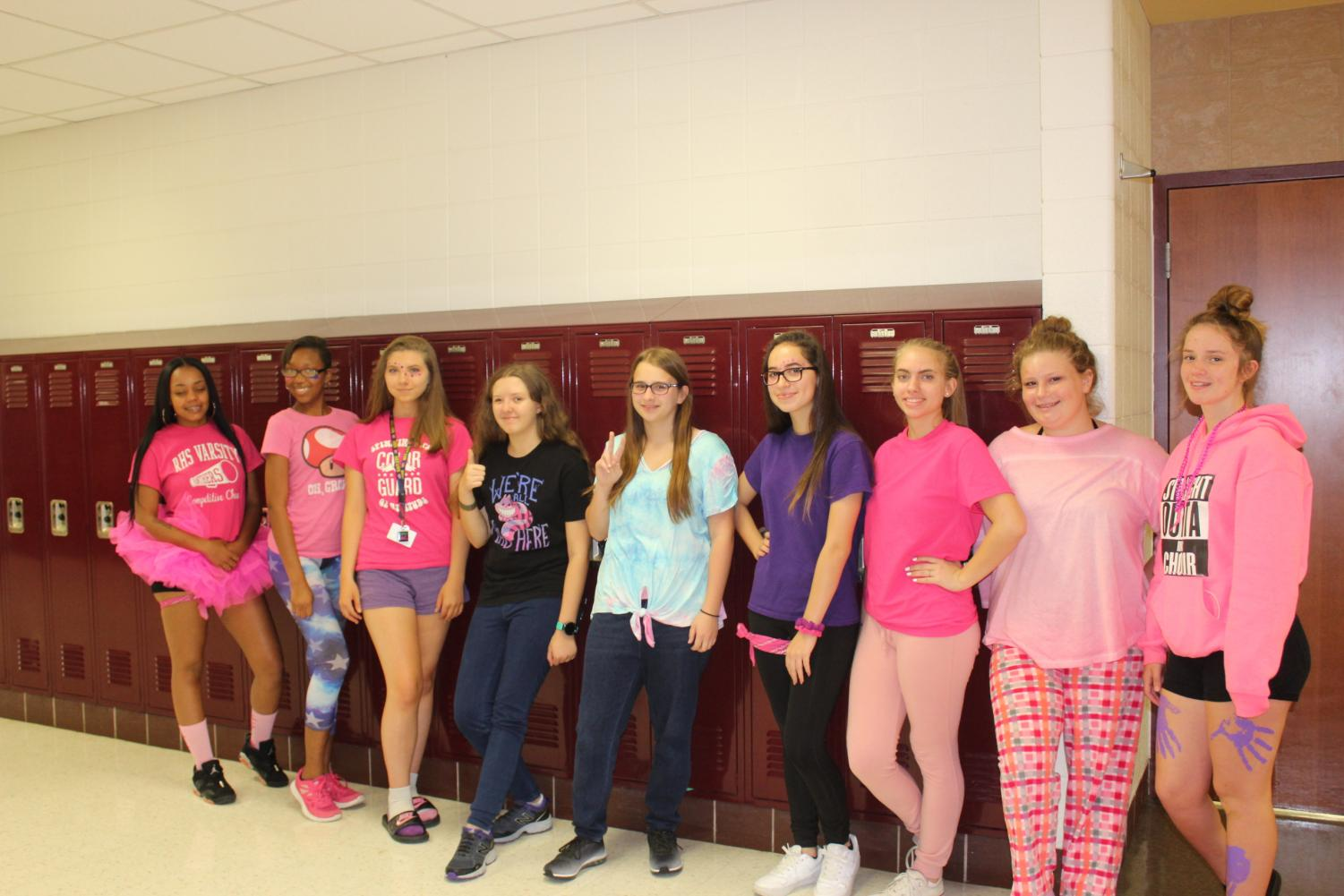 Students show their school spirit.