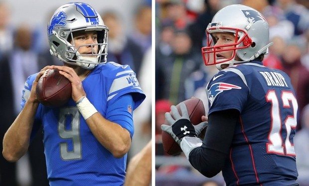 Matthew Stafford going against Tom Brady in an eventful game.