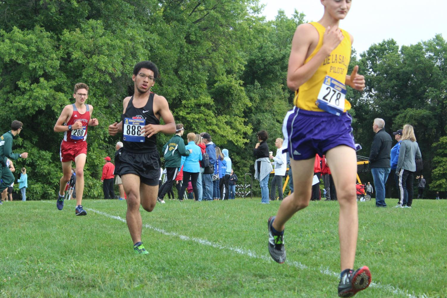 Junior Ryan Charles running in his varsity race.