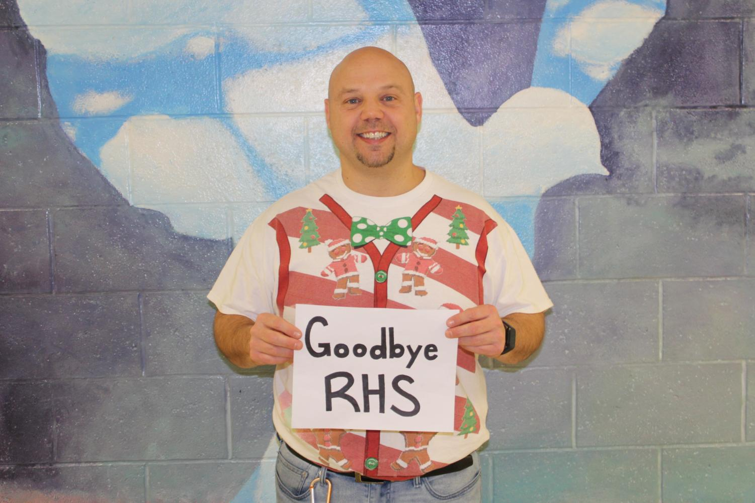 Former teacher Michael Zimmer getting ready to say goodbye to RHS.