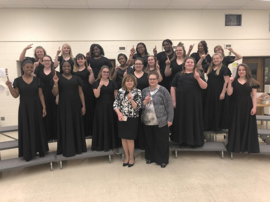 Chanson+choir+received+a+1+at+State+Solo+and+Ensemble+and+choir+director+Tina+Collins+could+not+be+more+proud.