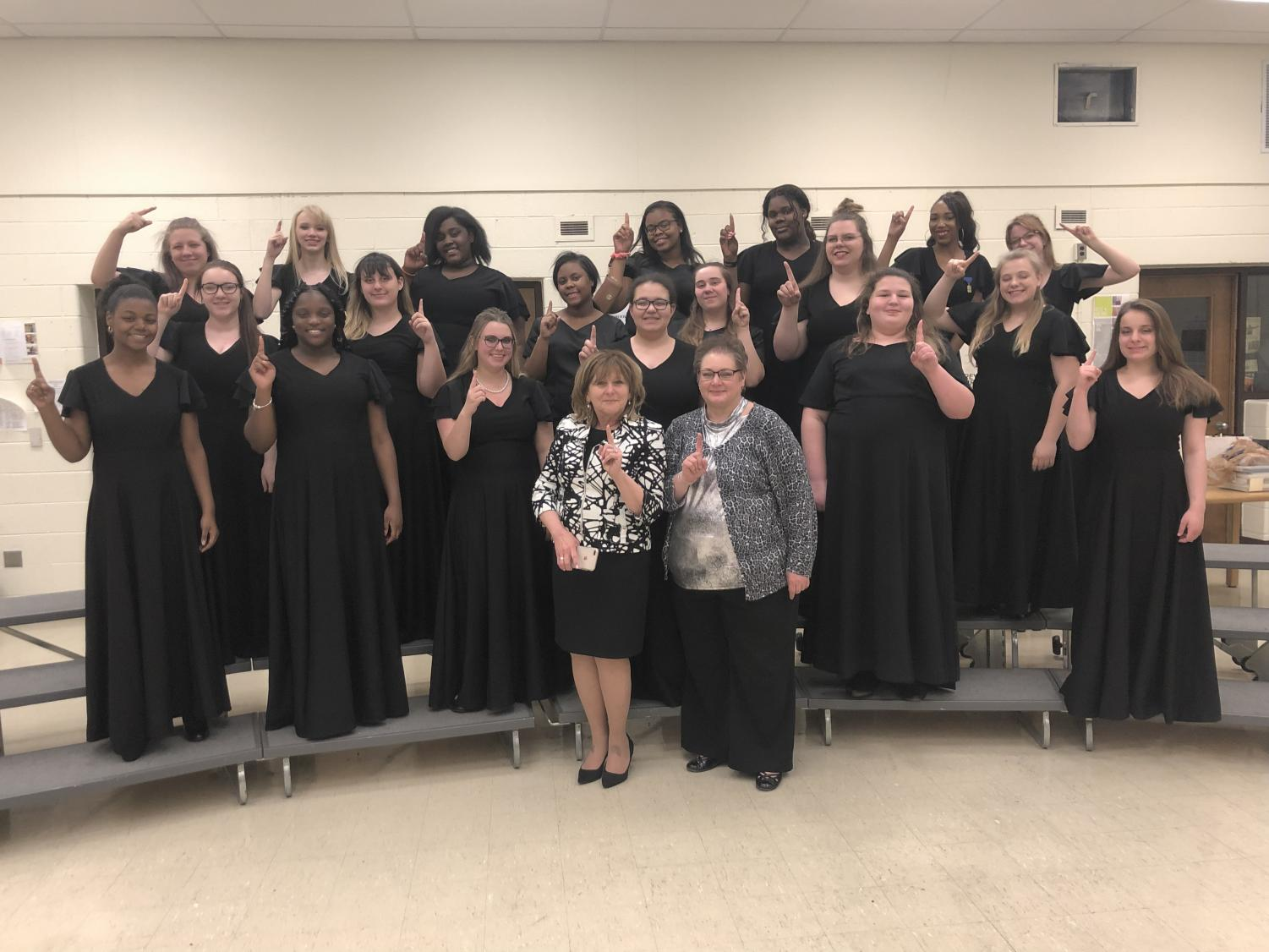 Chanson choir received a 1 at State Solo and Ensemble and choir director Tina Collins could not be more proud.