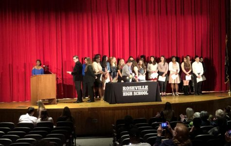 New National Honor Society members are inducted for 2019-2020