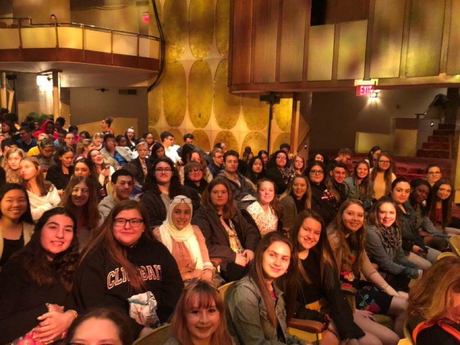 Students+at+the+Fisher+Theatre+preparing+for+the+EduHam+program+to+begin.