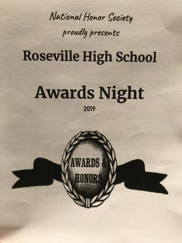 The pamphlet for the 2019 awards night.