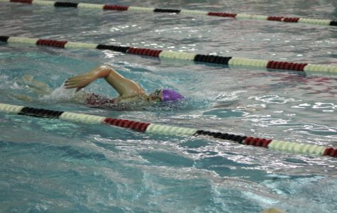 Senior Lexie Syacsure swims the 500 freestyle.