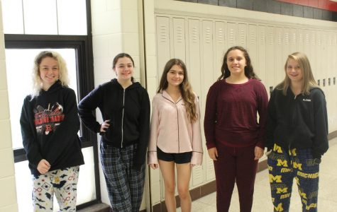 Spirit week day one: pajama day