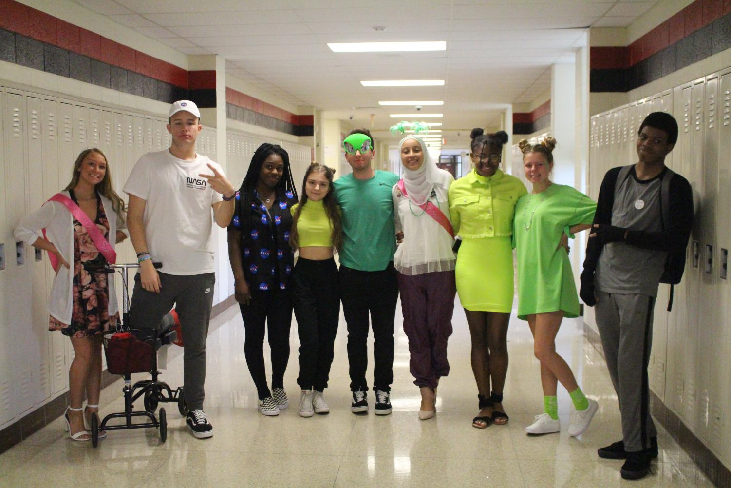 News and broadcasting students dressed in their best