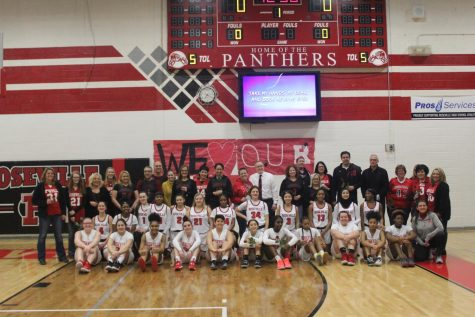 The girls basketball program celebrates Teacher Appreciation Night by honoring those teachers who have helped them throughout their academic career,