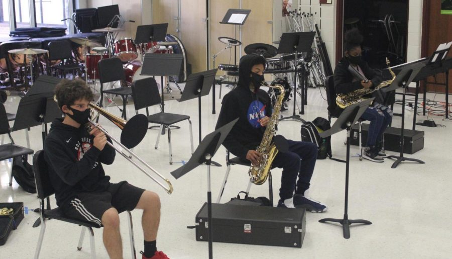 Band students receive safe new way to practice