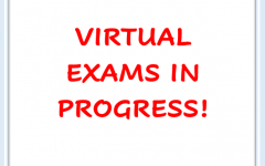 Virtual exams were planned like normal, but many teachers and students learned new ways to use the technology such as how to take/submit the exams and much more.