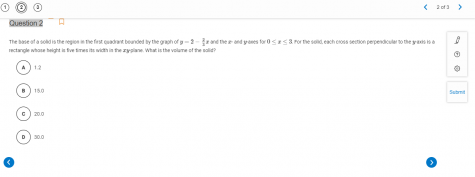 This is an example of what to expect if you decide to take AP Calculus. Can you solve it?